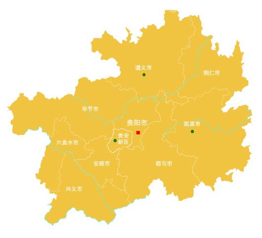 贵州地图矢量图