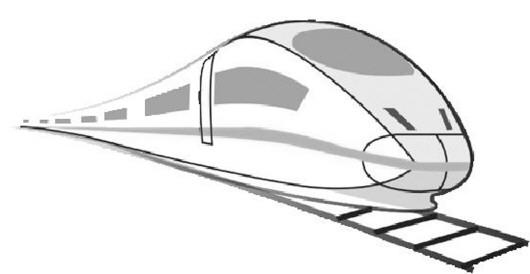 高铁卡通简笔画